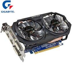 Placa gráfica gtx 750 ti de gigabyte nvidia com nvidia geforce windforce 2x gtx 750 ti gpu 2 gb gddr5 placa de vídeo de 128 bits cartões usados