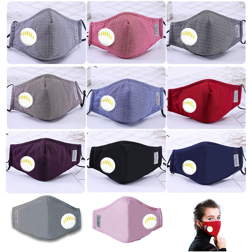 1Pcs Fashion Unisex Cotton Breath PM2.5 Mouth Mask Anti-Dust Anti Pollution Mask Cloth Activated Carbon Filter Respirator