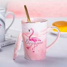 Pink Ceramic cups coffee cups China tea cup Creative Vintage Cup Cafe Bar Supplies Drinkware have a spoon and lid свитшот print bar have a cup of stfu