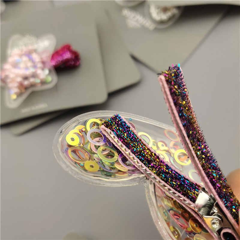 Accessories Crown Glitter  Sequin Rainbow Barrettes Hair Clips  BB Hairpins