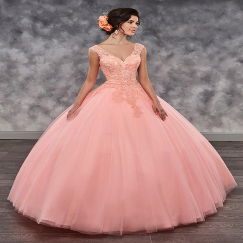 Quinceanera Dresses 2019 Peach Three Pieces With Cape Removable Skirt Sweet 16 Prom Party Ball Gown Vestido De 15 Anos Debutante