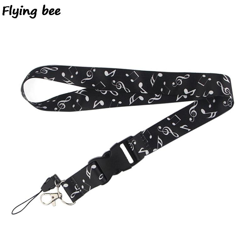 Flyingbee Beat The Melody Lanyard Phone Rope Keychains Phone Lanyard For Keys ID Card Cartoon Lanyards For Men Women X0471
