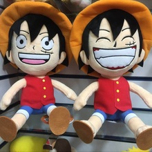New 28 Cm Cartoon Anime One Piece Figure Plush Doll Toy Straw Hat Laugh Luffy Figures Plush Toys For Children Kids