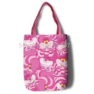 Image 4 - New Alice Girls Women Canvas Shoulder Bags Large Handbag Cute Cartoon School Book Shopping Bag