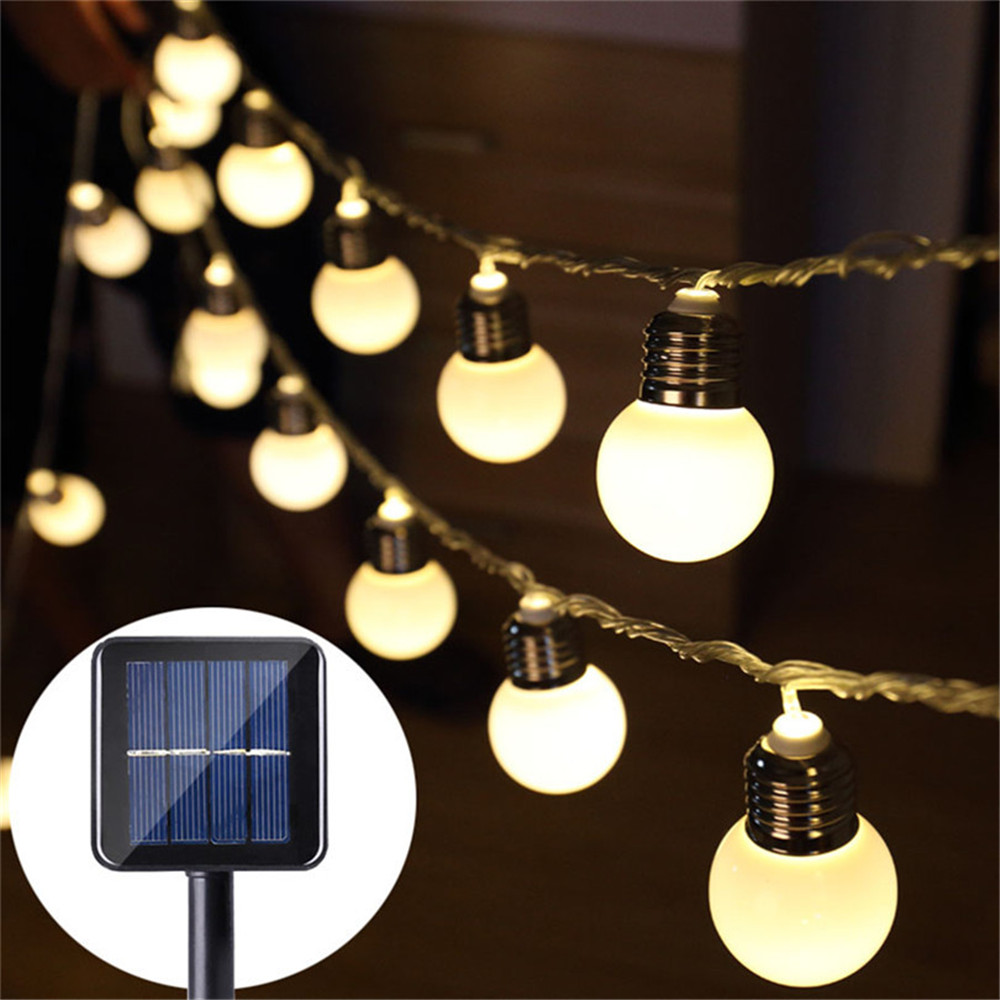 5CM Big Ball Wedding String Fairy Lights Bulb LED Globe Solar  Led Fairy String Light For Outdoor Garden Garland