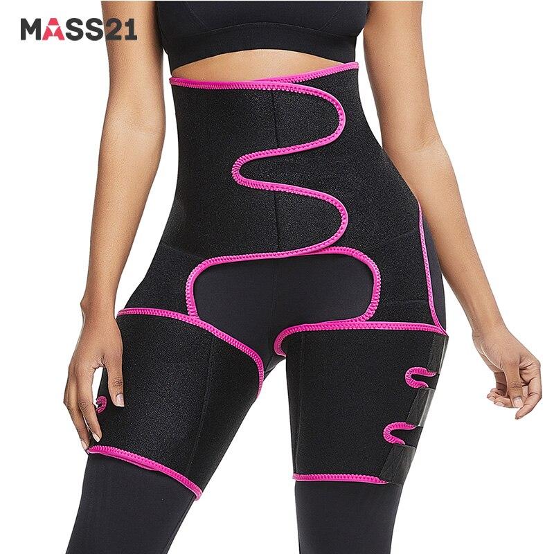 MASS21 High Waist Slim Thigh Trimmer Legs Shaper Neoprene Tummy Control Butt Lifter Waist Legs Trainer Belt Dropshipping