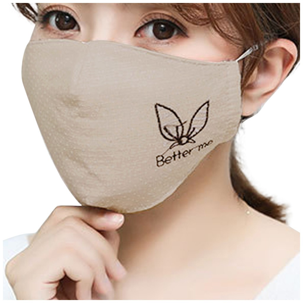 He159f5aa8f0e49b68151a4297c3a7ed0H Kawaii Maska Women Cotton Print Facemask Outdoor Riding Quick-drying Dustproof Keep Warm Mask