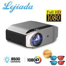 LEJIADA YG620 LED מקרן 1920x1080 P 3D וידאו 1080p מלא HD מקרן YG621 אלחוטי WiFi רב מסך מובנה רמקול
