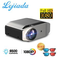 LEJIADA YG620 LED Projektor 1920x1080 P 3D Video 1080p Full HD Projektor YG621 Drahtlose WiFi Multi  eingebauter Lautsprecher
