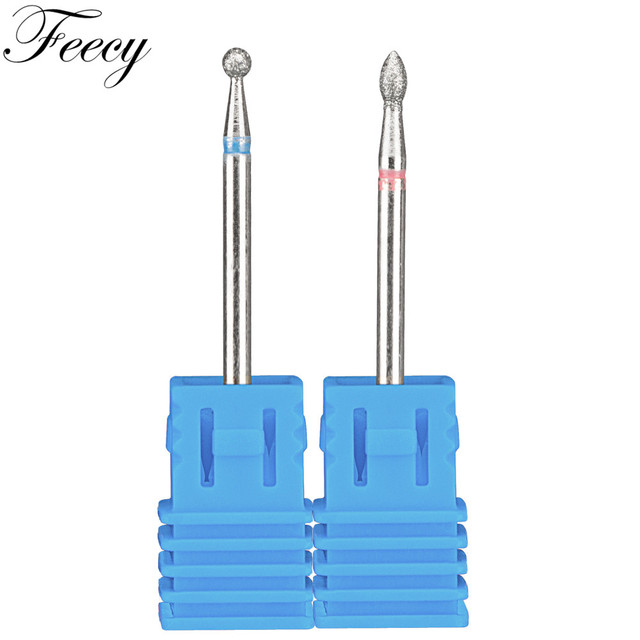 2pcs/Lot Diamond Milling Cutter for Manicure Burrs Pedicure Nail Drill Bits Accessories Nozzles for Manicure Cutters Nail Files 5