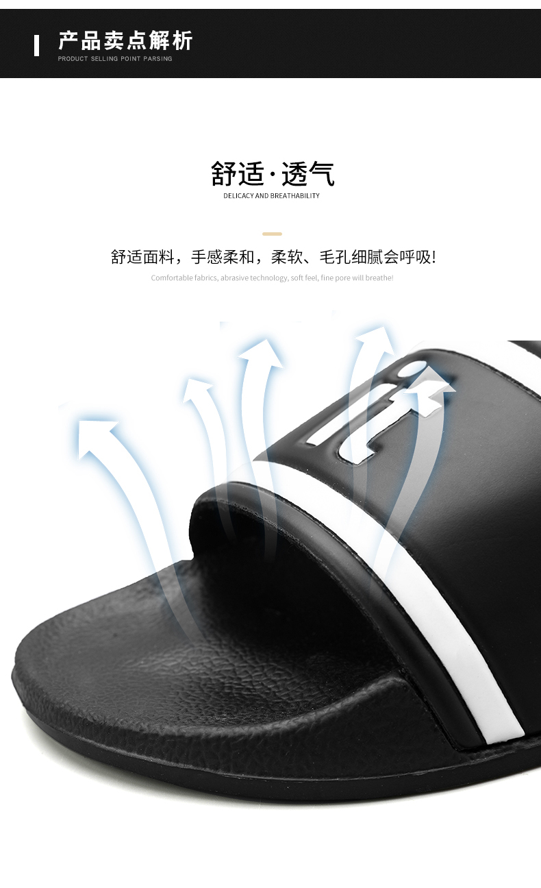 XIMISEN Men Slippers Big Size 39-46 Mens Shoes Casual Breathable Beach Sandals Slippers Wedge Black White Flip Flops Men Slides