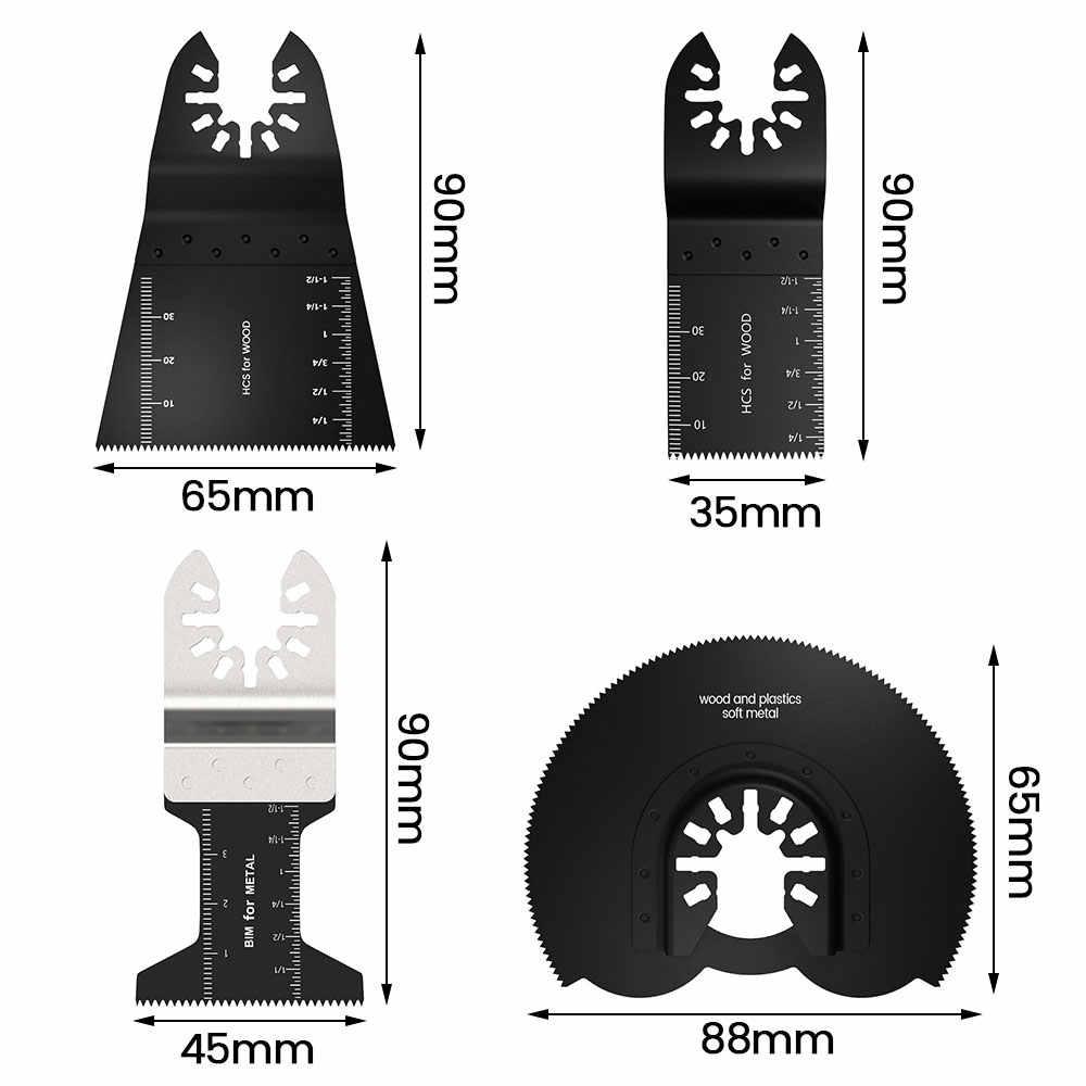 24 stücke High Carbon Stahl Sägeblätter Multi-Funktion Bi-metall Präzision Oszillierende Multitool Sah Schneiden Multimaster Werkzeuge