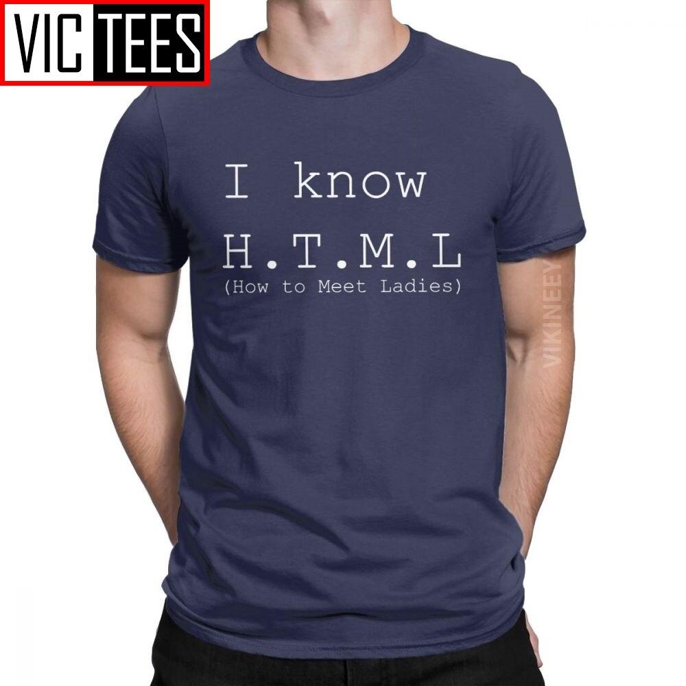 Fashion I Know HTML Silicon Valley Tshirt Men Cotton Tshirt Aviato Hooli Geek Tv Nerd Richard Funny