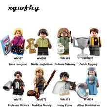 Harry Magic Figures Fantastic Beasts Hagrid Dobby Snape Dumbledore Ron Hermione Lord Voldemort Model building Blocks Toys JM114