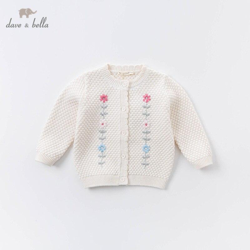 DBZ15032 dave bella осенний кардиган для маленьких девочек, Модный цветочный кардиган, Детское пальто, милый вязаный свитер для детей|Свитера| | АлиЭкспресс
