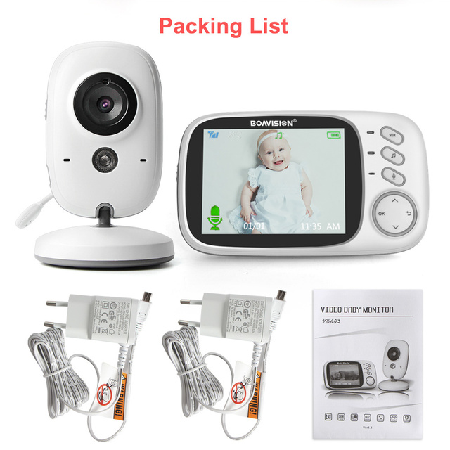 VB603 Video Baby Monitor 2.4G Wireless With 3.2 Inches LCD