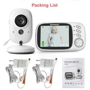 Image 5 - VB603 Video bebek izleme monitörü 2.4G kablosuz 3.2 inç LCD 2 yönlü ses konuşma gece görüş gözetim güvenlik kamera bebek bakıcısı