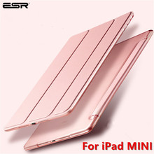 ESR Case for iPad Mini 5 4 3 2 1 Folio PU Leather Soft Back Trifold Stand Auto Sleep/Wake up Smart Cover for iPad Mini 5 2019 case for ipad pro 10 5 esr pu leather translucent back hybrid soft bumper corner slim smart cover case for ipad pro 10 5 inches