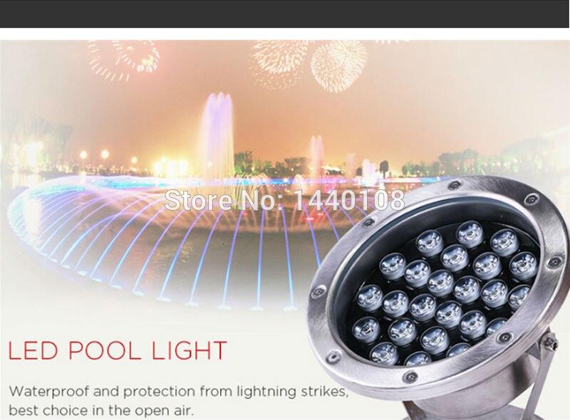 2 pçs lote RGB LED Pool Luz