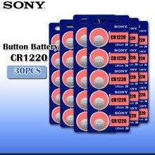 30 шт. sony CR1220 оригинальная литиевая батарея для ключей автомобиля часы пульт дистанционного управления игрушка cr 1220 ECR1220 GPCR1220 Кнопочная батарея