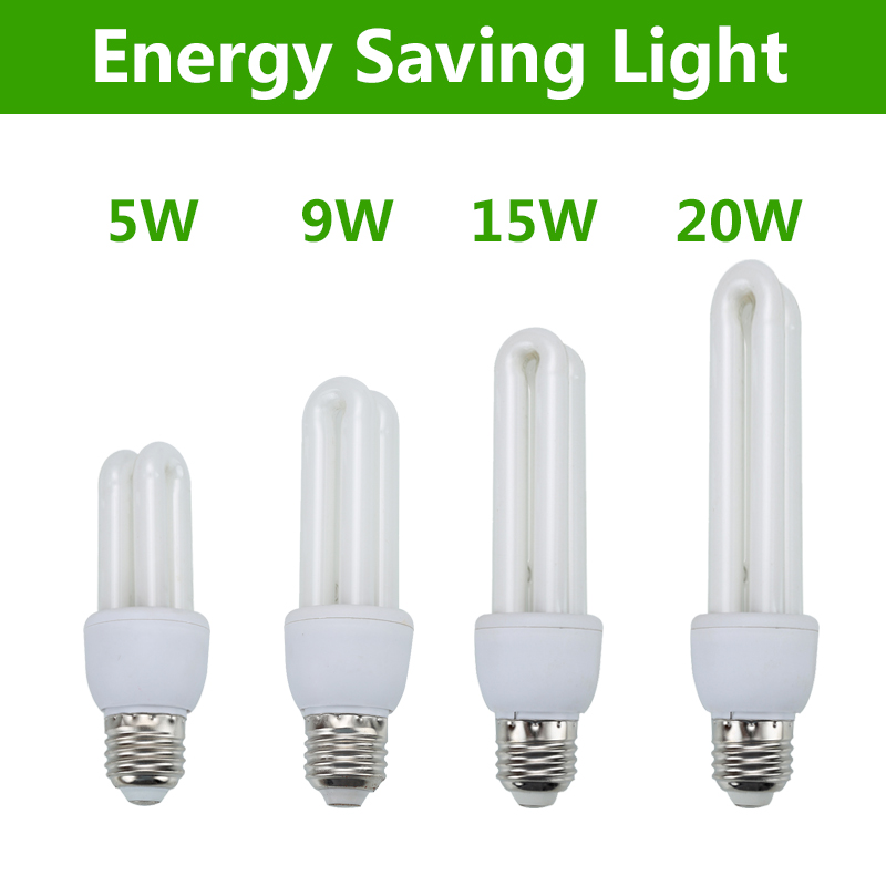Energy Saving Light Bulb Lamp 5W 9W 11W 15W 20W E27 Screw 2U Shaped Light Bulbs For Home CFL Light Bulb Cfl Light For Indoor