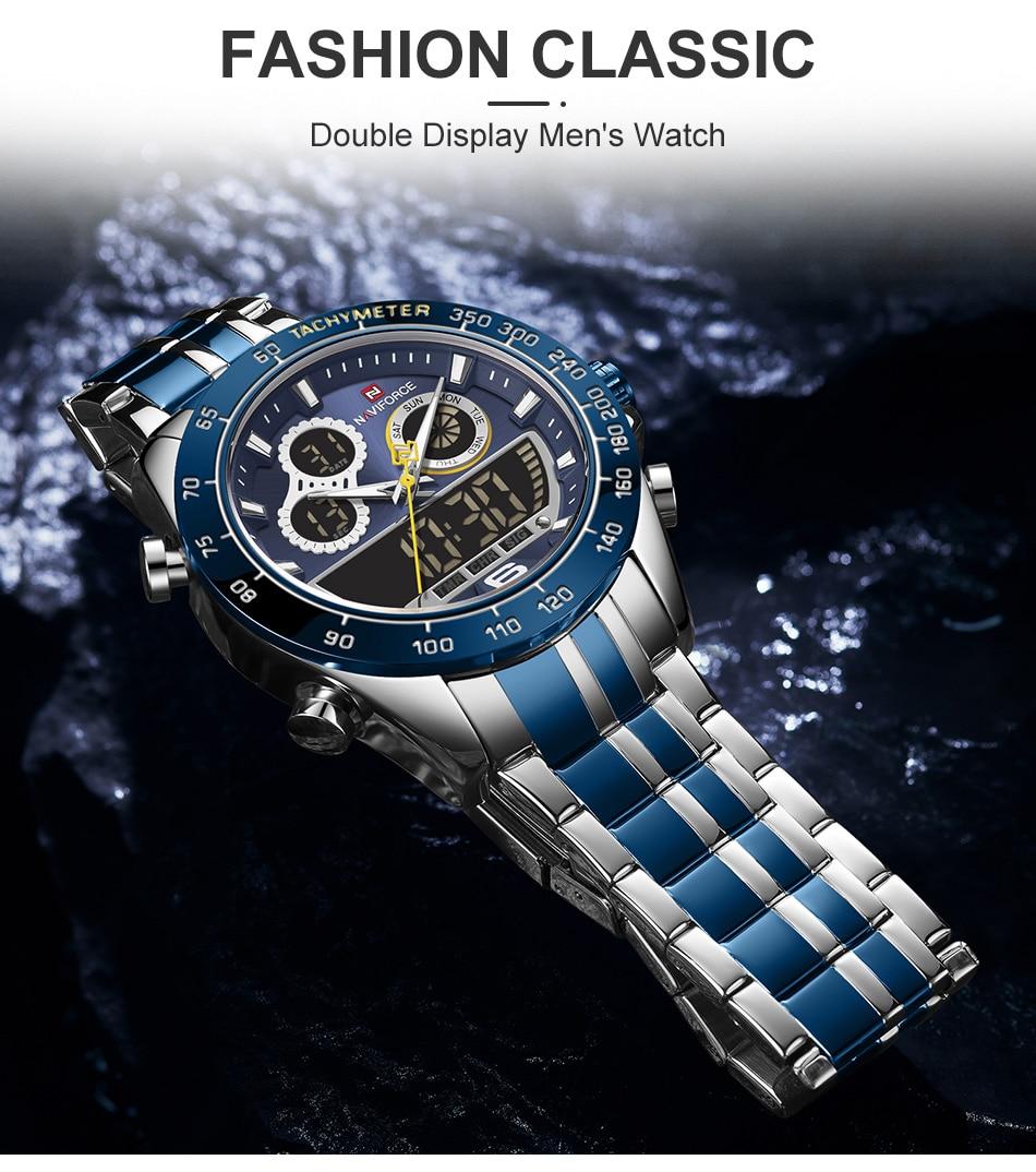 NAVIFORCE 9188 Steel Watch 10