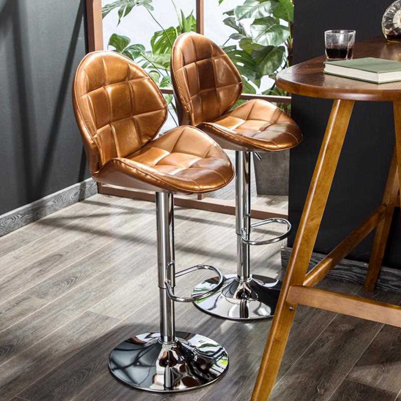 2019 Modern Minimalist  Bar Stool High Stool Lifting High Bar Chair Home Bar Stool Back Stool Bar Chair