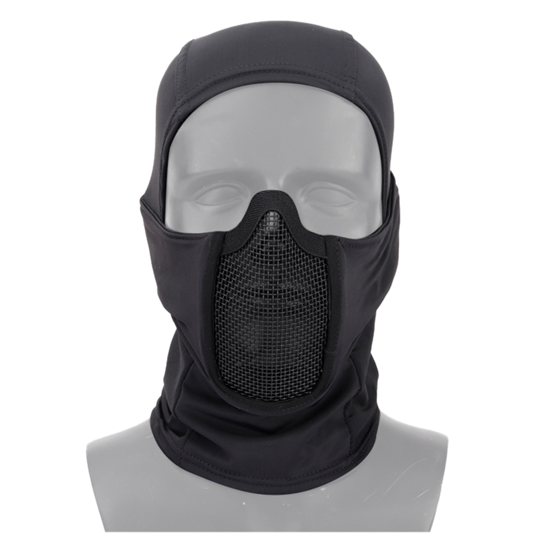 WST Breathable Tactical Hood Face Cover Mask Outdoor Battle Face Protective Mask For Airsoft Paintball- Black