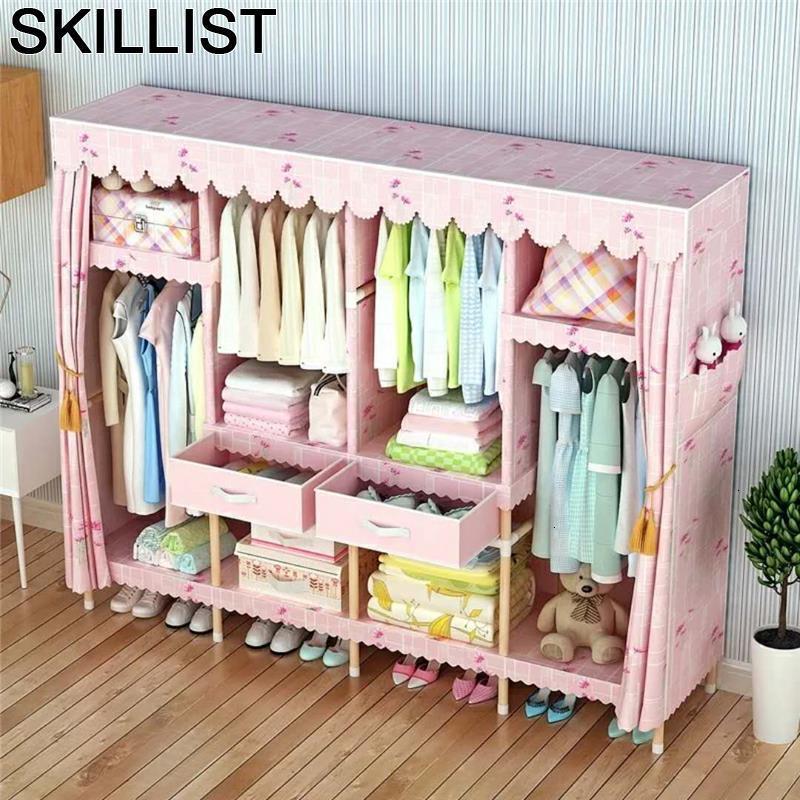 Tela Yatak Odasi Mobilya Armario Almacenamiento Meuble De Rangement font b Closet b font Mueble Bedroom