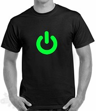 Fashion Men'S Short Sleeve Power On Button Funny Gadget Nerd Geek Computer Print T Shirt Men Summer Style(China)