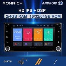 2 din Android 10 Lettore DVD Dell'automobile Per Toyota Universale RAV4 COROLLA VIOS HILUX Terios Land Cruiser PRADO 100 4RUNNER Yaris radio