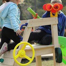 Желтое пластиковое Рулевое колесо для детской игры маленькое