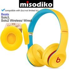Misodiko casque oreillettes coussins kit pour Beats by Dre Solo3, Solo2 filaire/sans fil casque supra auriculaire, oreillettes de remplacement
