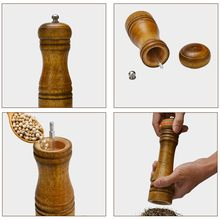 2020 New Kitchen Tools Cooking and Pepper Grinder Hand Movement Wood Pepper Mill(China)