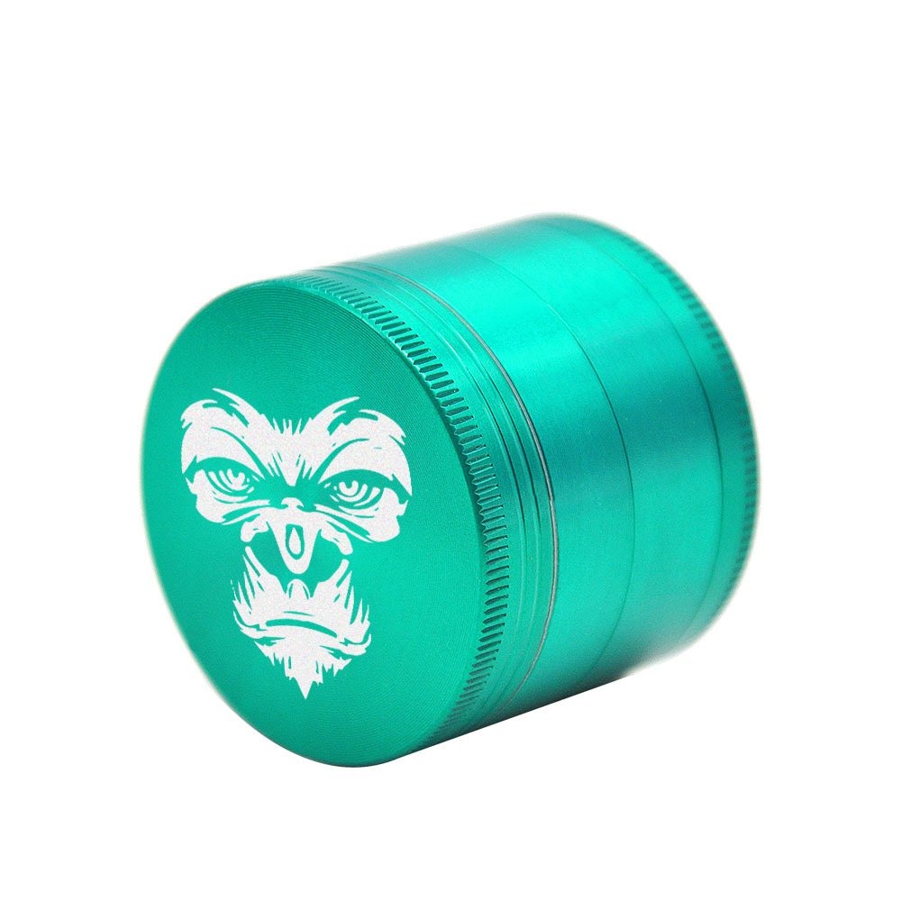 KING KONG Herb Grinder 4 Layers 50 MM Zinc Alloy With Sharp Diamond Teeth Tobacco Metal Herb Crusher Spice Mill Muller 3