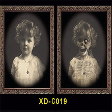 2019 3D Ghost Picture Frame Halloween Props Decoration Horror Craft Supplies Bachelorette Party Decor Theme