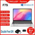 Новейшие ноутбуки Teclast F7S 14,1 дюймов 1920x1080 IPS ноутбук 8 ГБ ОЗУ 128 ГБ eMMC Windows 10 OS двухдиапазонный Wi-Fi Bluetooth компьютер