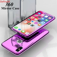 360 Full Mirror Case For iphone XR 6s 6 plus iphone XS Max 5 5S SE 2020 Luxury Cover Case For iphone 8 7 plus iphone XS 10 Case cheap Slefinslef Fitted Case Apple iPhones iPhone 5 iPhone 6 iPhone 6 Plus IPHONE 6S iPhone 6s plus iPhone 5s Iphone SE iPhone 7
