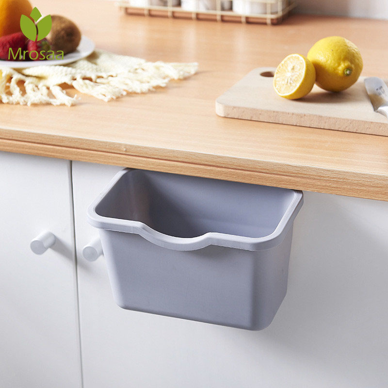 Bin Trash-Can Cabinet-Door Kitchen Can-Rubbish-Container Hanging Desktop Mini