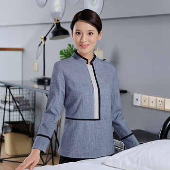 Hotel smock qiu dong outfit cleaning women long sleeve hotel housekeeping work clothes clean tooling uniform