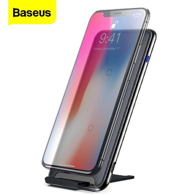 Baseus 10 Вт три катушки QI Беспроводное зарядное устройство для iPhone Xs Max Xs Samsung S9 Note 9 Быстрая Беспроводная зарядная док станция