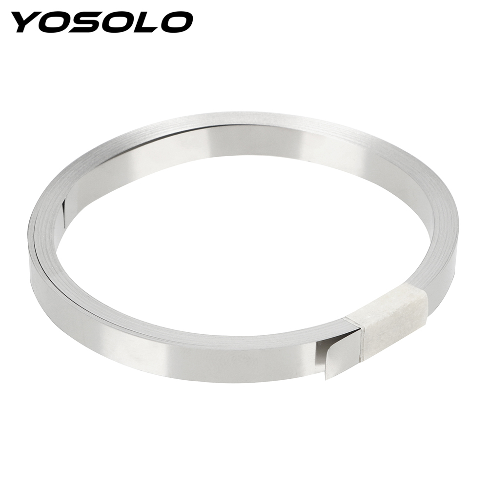 YOSOLO 18650 Li-ion Battery Belt Connection Spot Welding Nickel Plate Connect 0.1mm Thick  10m Length Battery Nickel Band