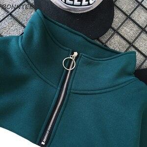 Image 5 - Sweat shirt en Patchwork, ample, polyvalent, style Hip Hop, pour femmes, Ulzzang, avec fermetures éclair en velours à manches longues, collection vestes à capuche femmes