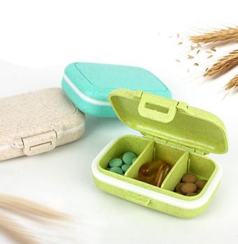 Opakowanie na tabletki Organizer na pigułki etui przenośne 7 dni 3 siatki podróże leki medyczne przechowywanie tabletu pojemnik apteczka tanie i dobre opinie XWY709