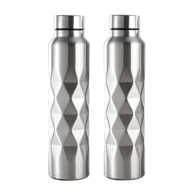 1000ml Single-wall Stainless Steel Water Bottle  Gym Sport Bottles Portable BPA Free Cola Beer Drink Bottle
