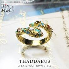 Золотистое волшебное кольцо в виде змеи модное классическое