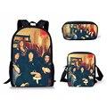 HaoYun The Queen Band школьные ранцы для мальчиков 3 шт./компл. школьные принадлежности для учащихся школьный рюкзак книжный мешок с мини-мешок с закр...