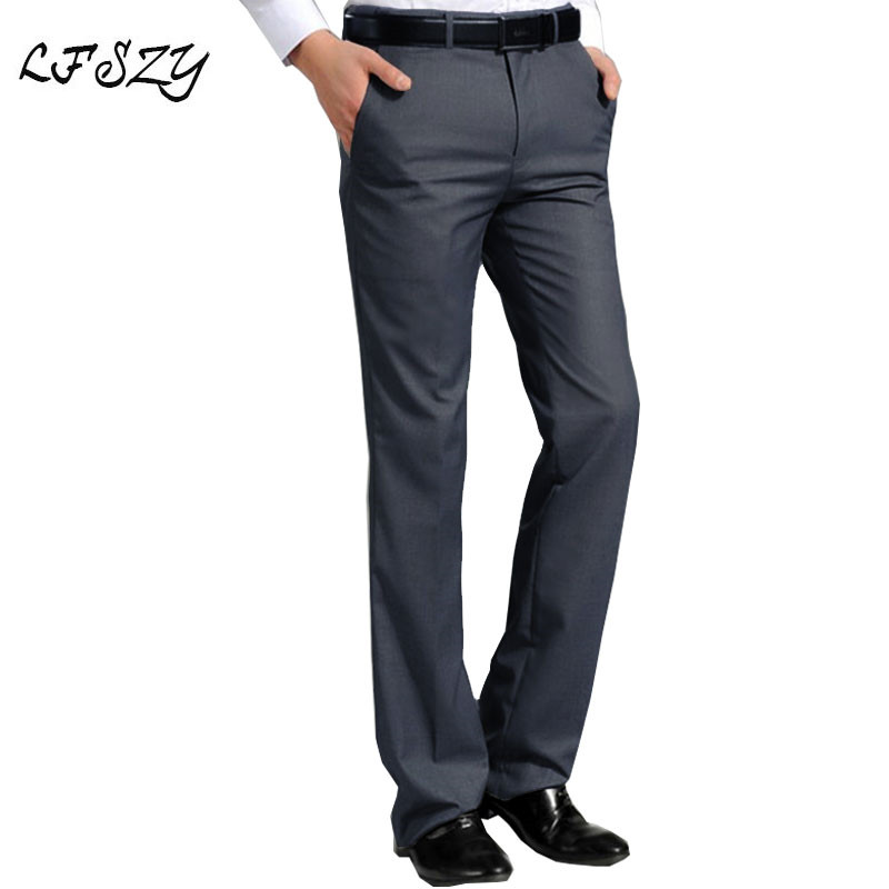 Men's Suit Pants 2019 New White Straight Trousers Business Casual Korean Version Of Slim Trousers More Sizes 29-36 37