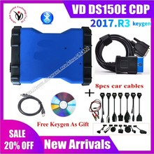2021 NEW VCI VD DS150E CDP PRO with bluetooth 2017.R3 keygen for delphis obd2 car truck Scanner diagnostic tool with new relays