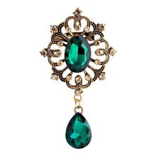 Taobao Best Selling Korea Set Super Flash Rhinestone Crystal Pin Tender Leaves Full Diamond Brooch Wholesale Quality Assurance